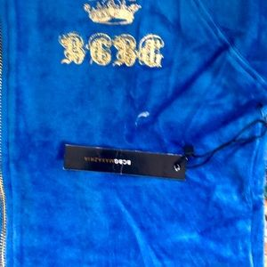BCBG Other - Brand new velour BCBG sweat suit- blue